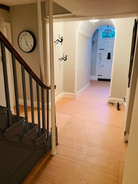 hallway ply fitted