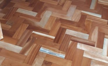 Teak Herringbone blocks